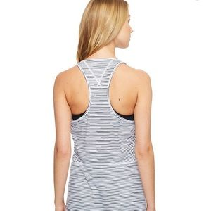 Lucy exercise striped racerback tank